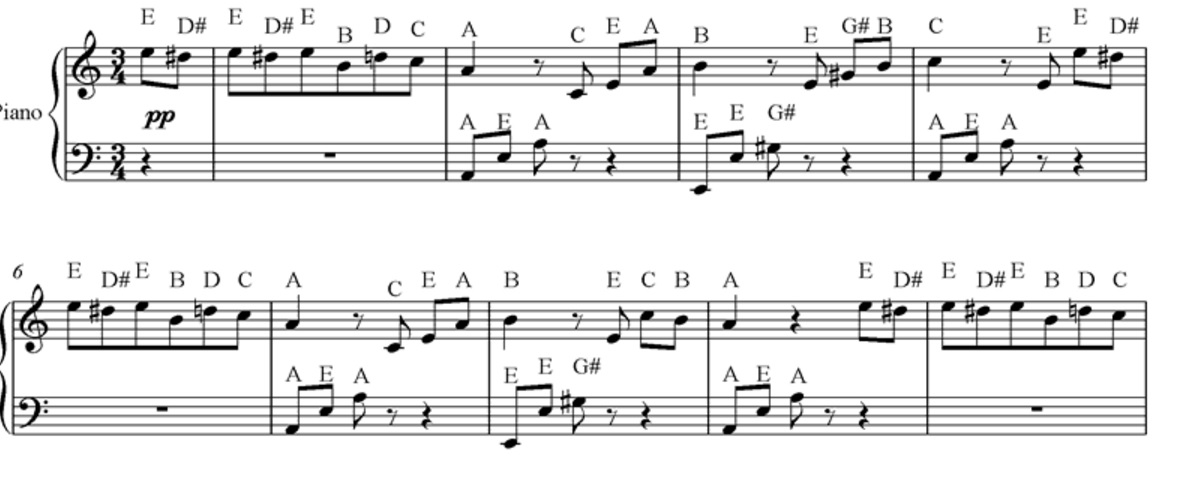 All Music Chords somewhere in time sheet music : Writing Down the Note Letters: Good or Bad? - PianoTV.net