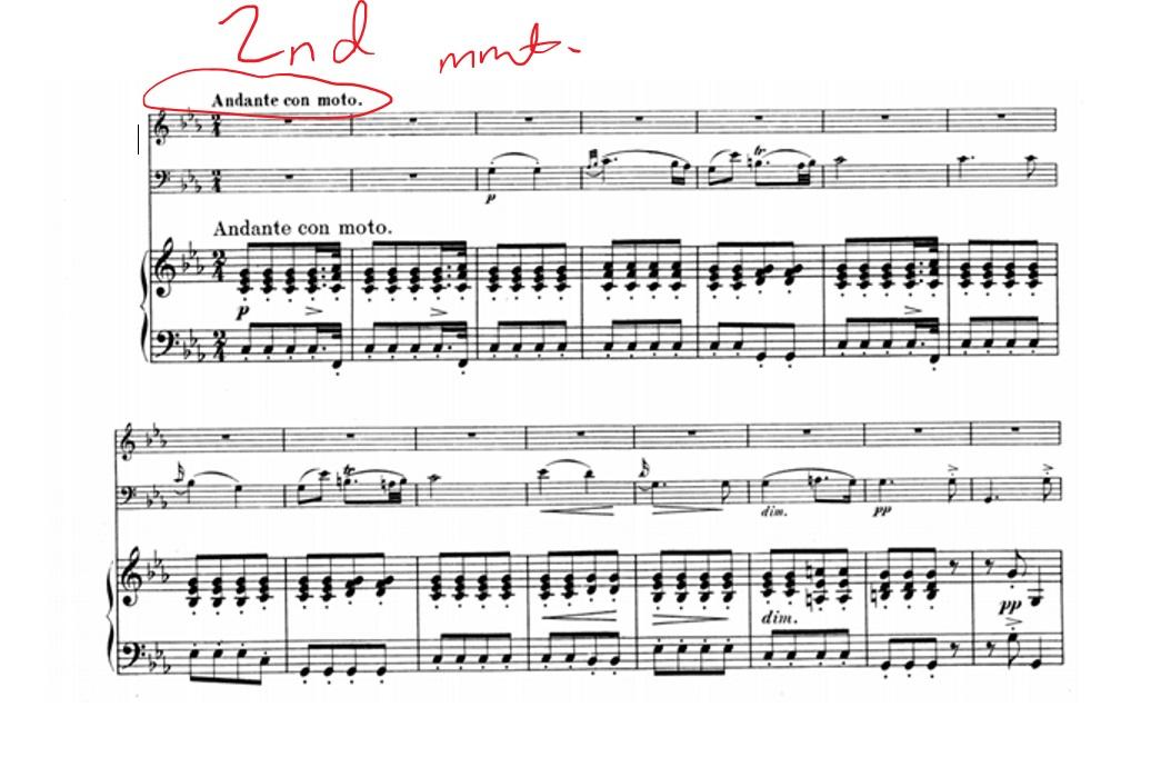 Piano piano trio sheet music : Schubert's Masterpiece: Piano Trio 2 in E-flat Major - PianoTV.net